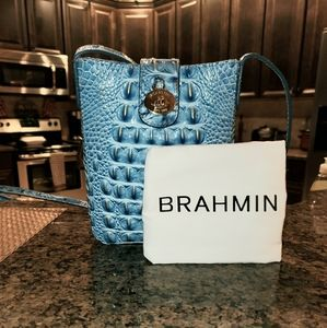 Small light blue Brahmin crossbody.